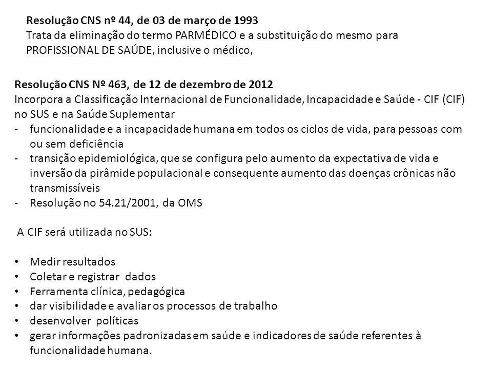 Resolução CNS nº 44, de 03 de março de 1993