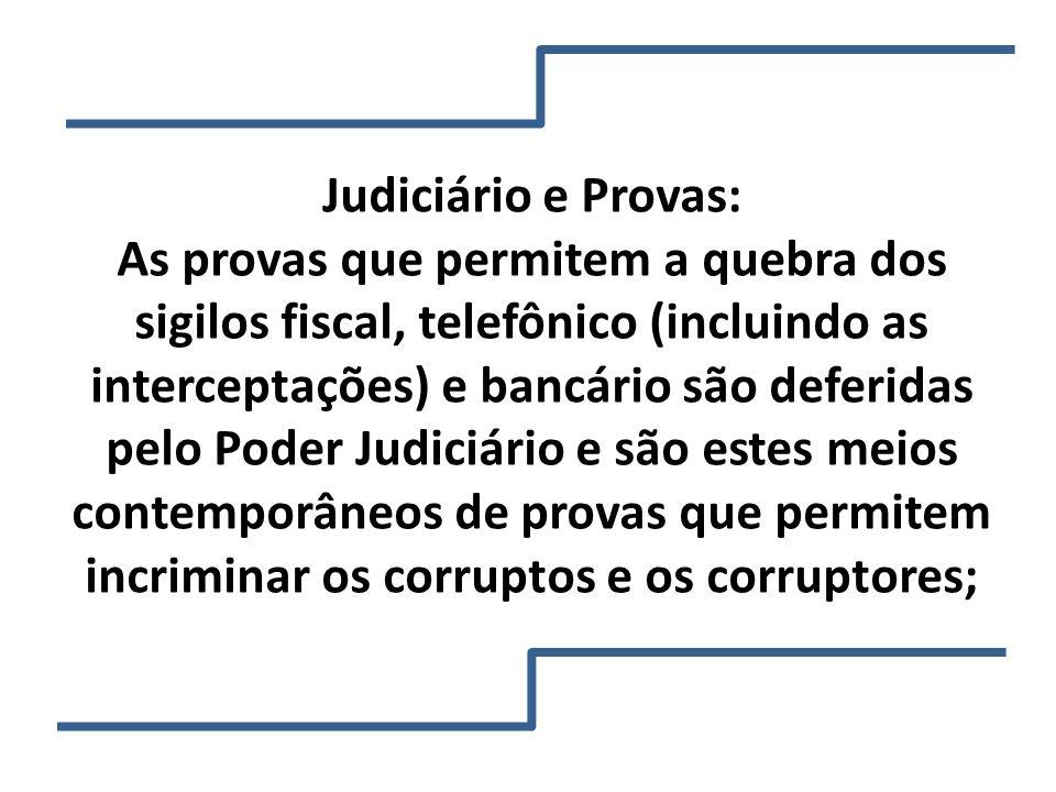 Judiciário e Provas: