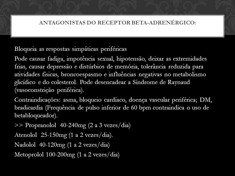 Antagonistas do receptor beta-adrenérgico: