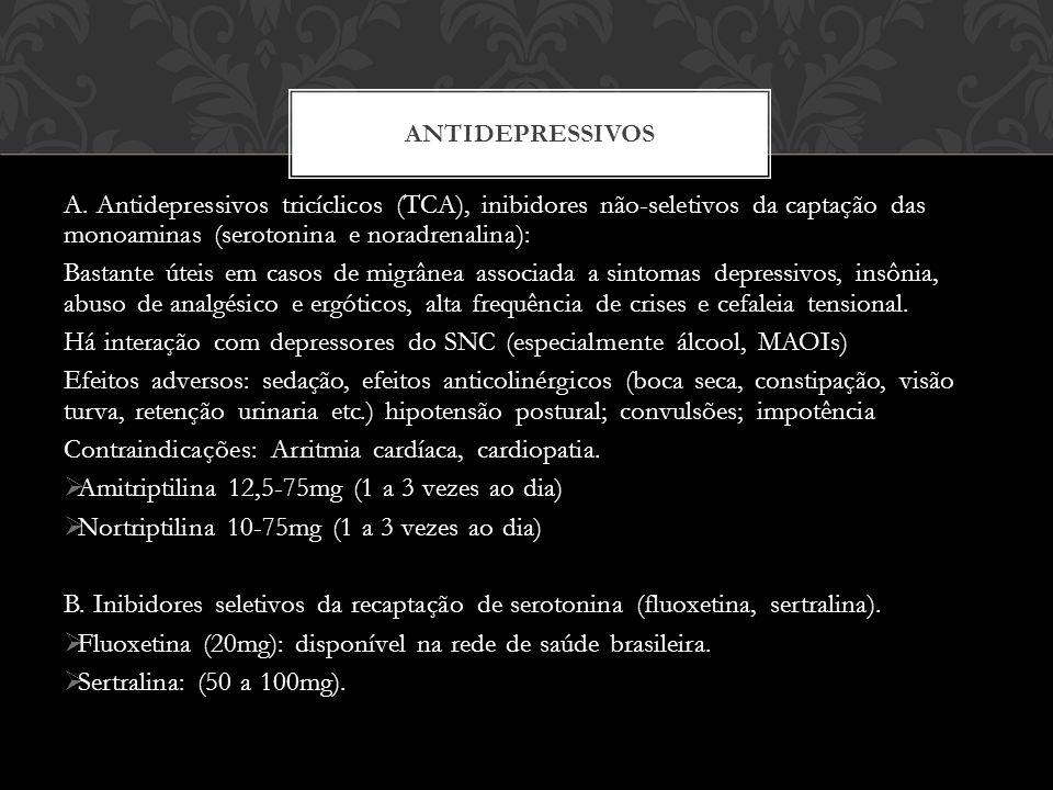 Há interação com depressores do SNC (especialmente álcool, MAOIs)