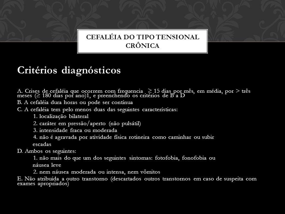 Cefaléia do tipo tensional crônica