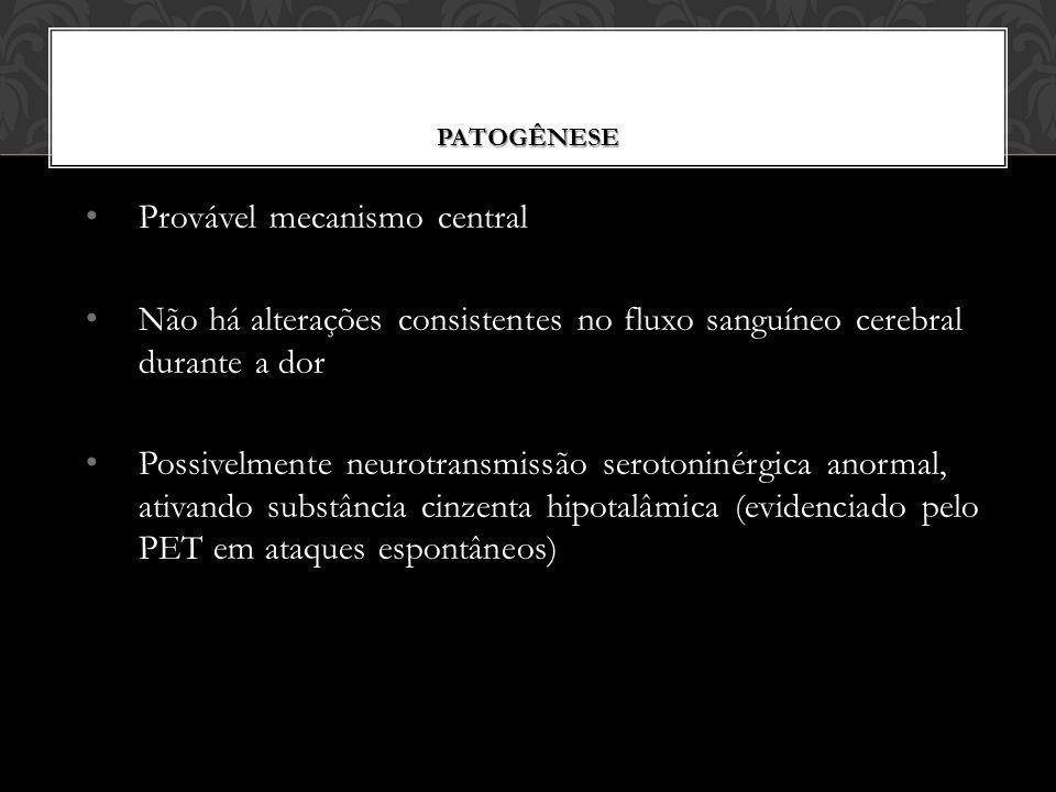 Provável mecanismo central
