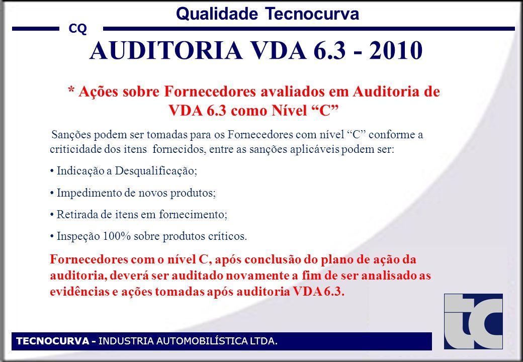 AUDITORIA VDA 6.3 - 2010 Qualidade Tecnocurva