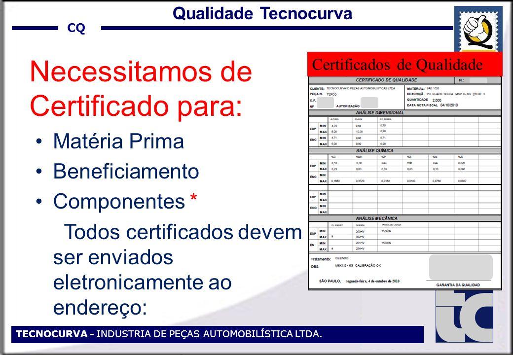 Todos certificados devem ser enviados eletronicamente ao endereço: