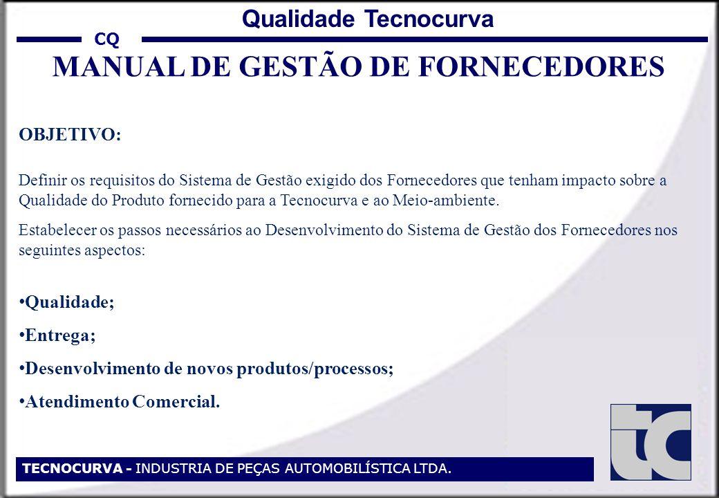 MANUAL DE GESTÃO DE FORNECEDORES