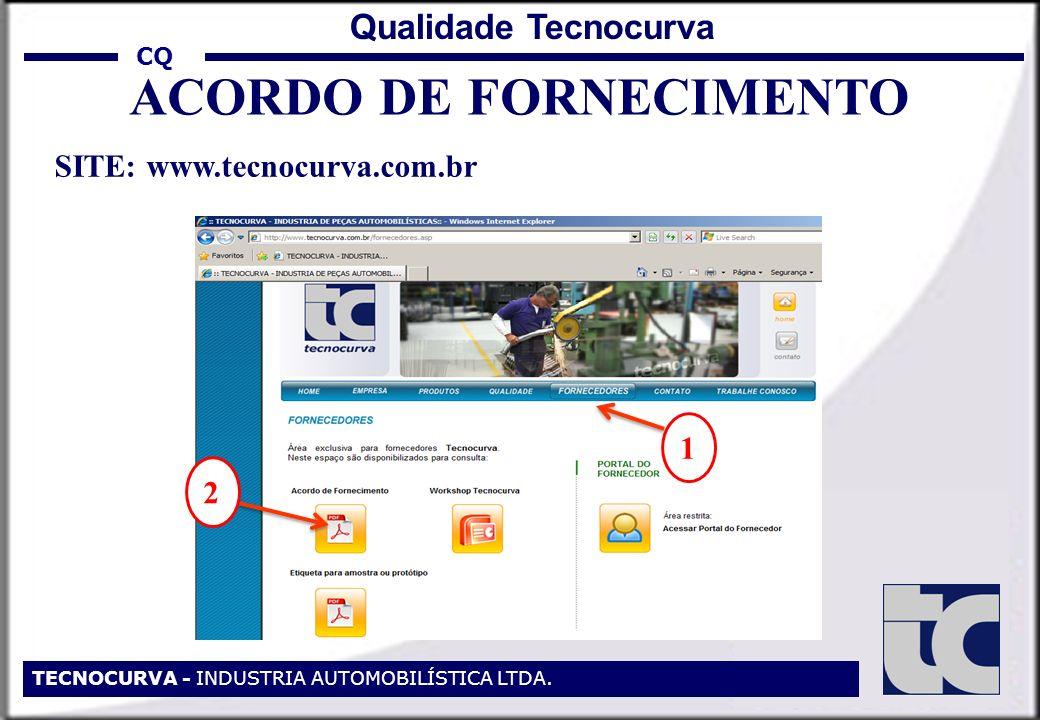 ACORDO DE FORNECIMENTO