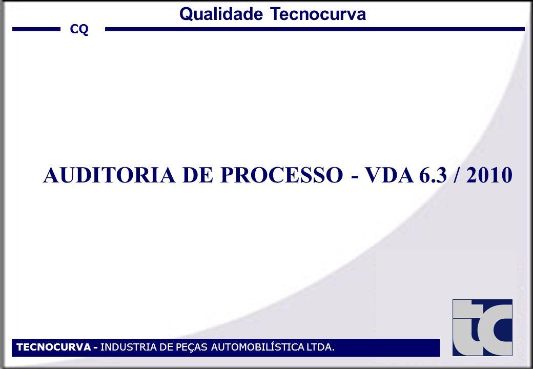 AUDITORIA DE PROCESSO - VDA 6.3 / 2010