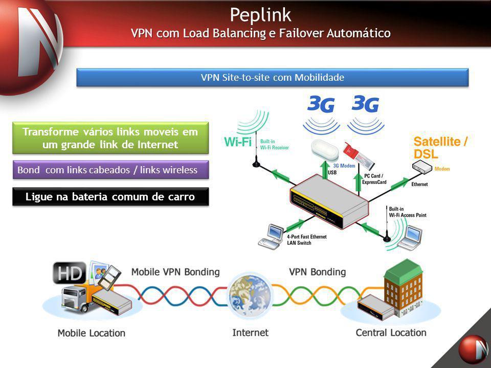 Peplink VPN com Load Balancing e Failover Automático