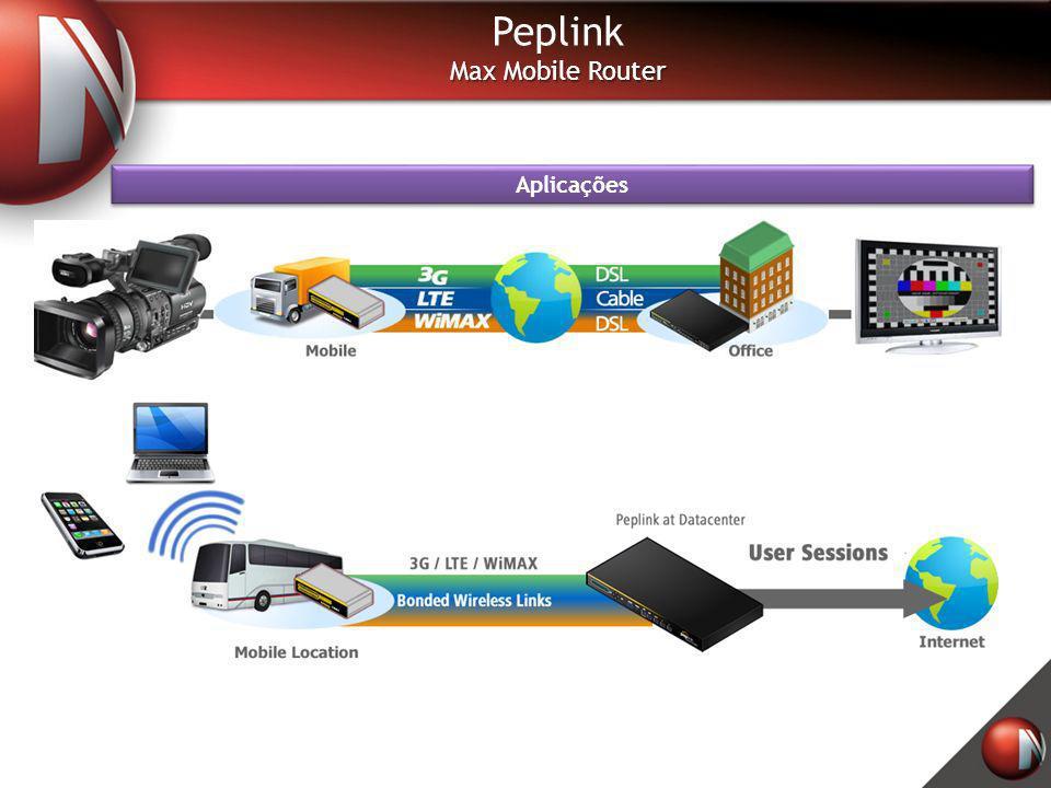 Peplink Max Mobile Router Aplicações