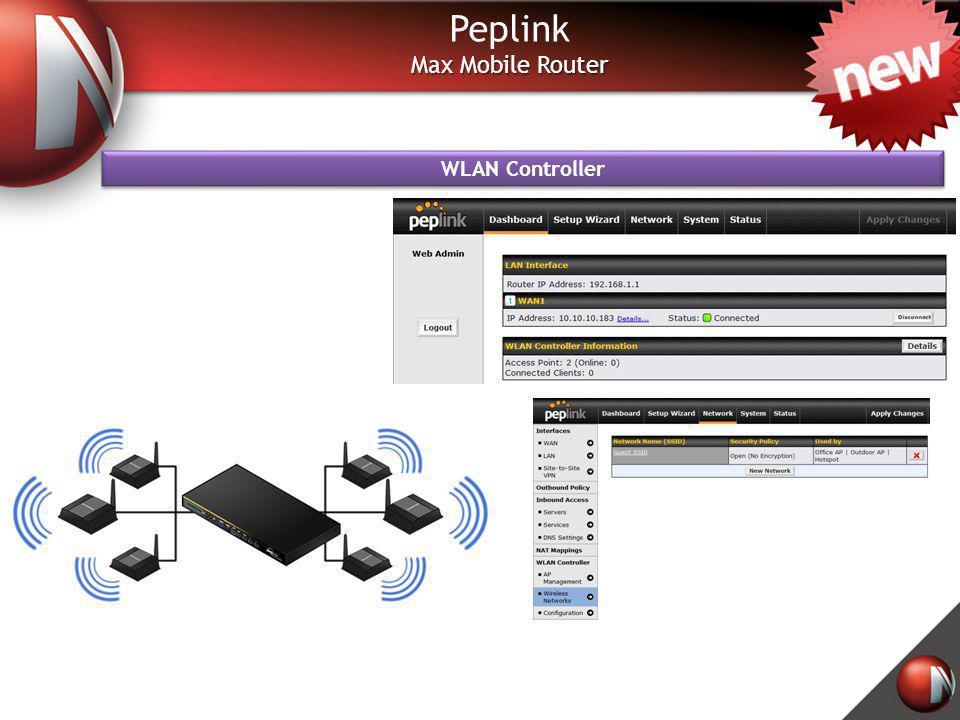 Peplink Max Mobile Router WLAN Controller
