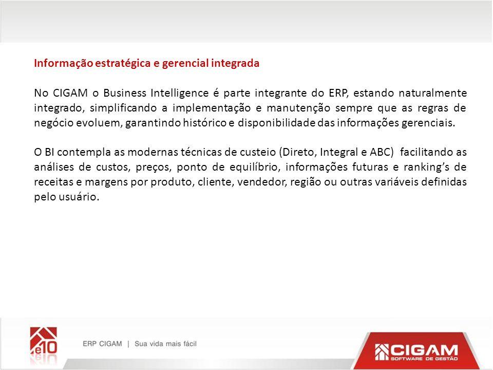 Informação estratégica e gerencial integrada