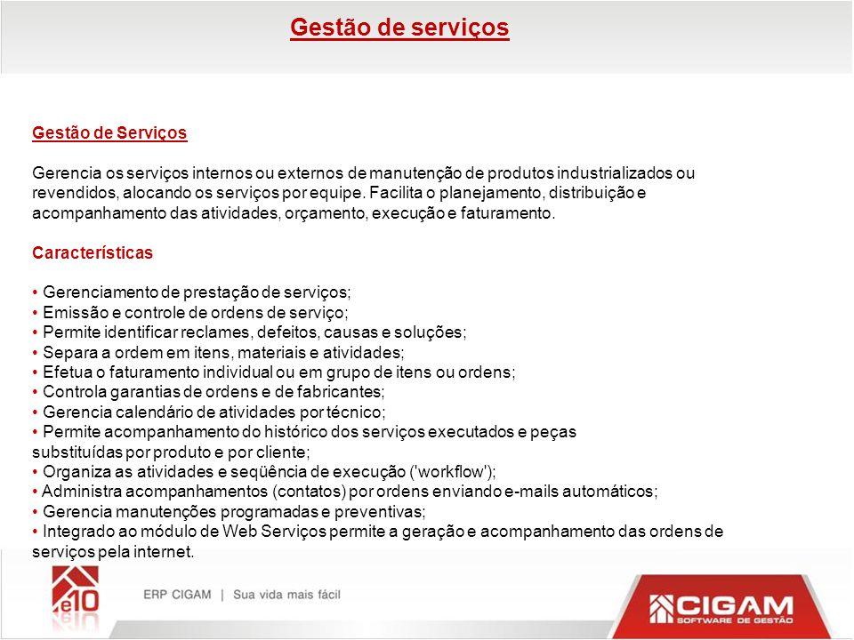 Gestão de serviços Gestão de Serviços