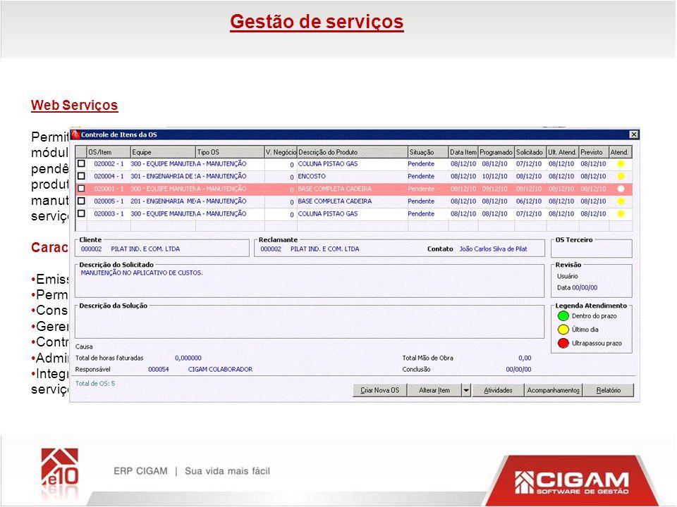 Gestão de serviços Web Serviços