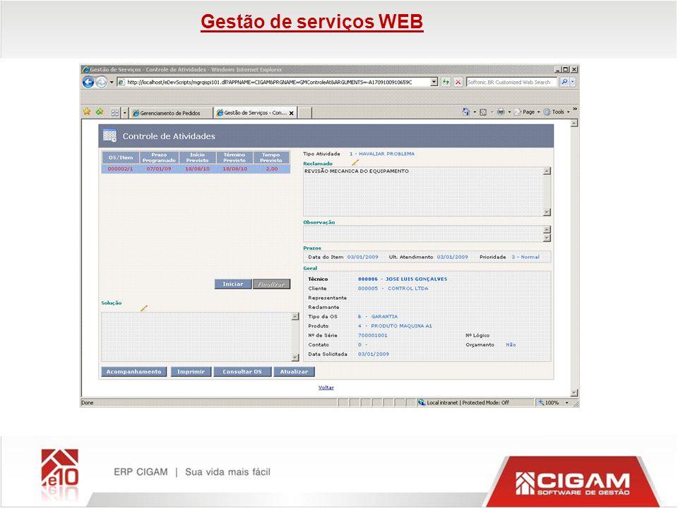 Gestão de serviços WEB
