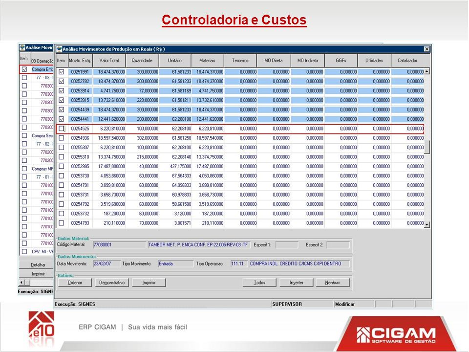 Controladoria e Custos