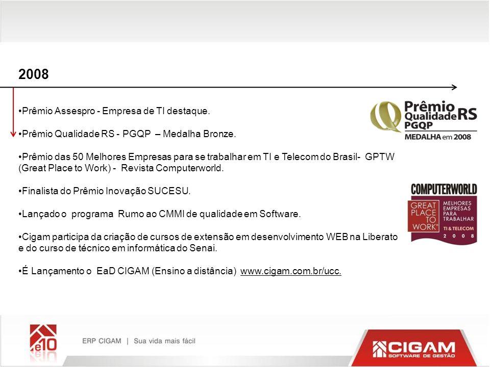 2008 Prêmio Assespro - Empresa de TI destaque.