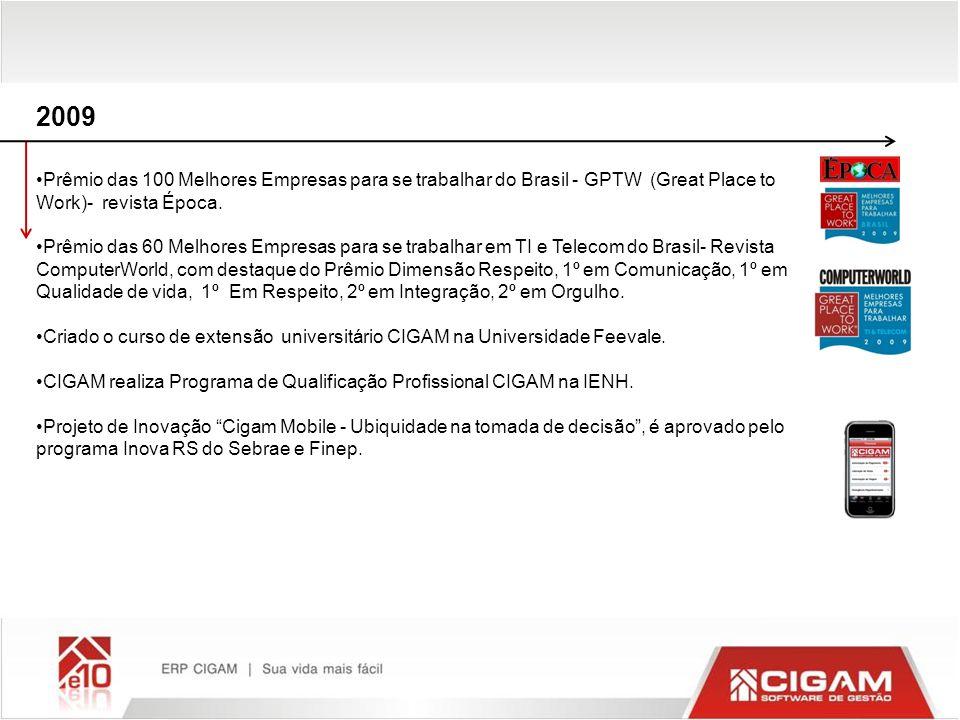 2009Prêmio das 100 Melhores Empresas para se trabalhar do Brasil - GPTW (Great Place to Work)- revista Época.