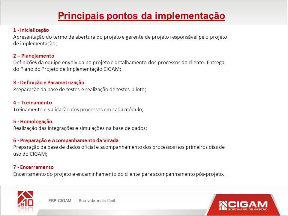Principais pontos da implementação