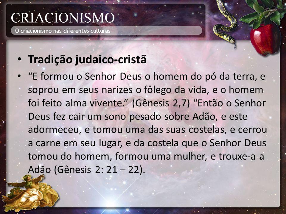CRIACIONISMO Tradição judaico-cristã