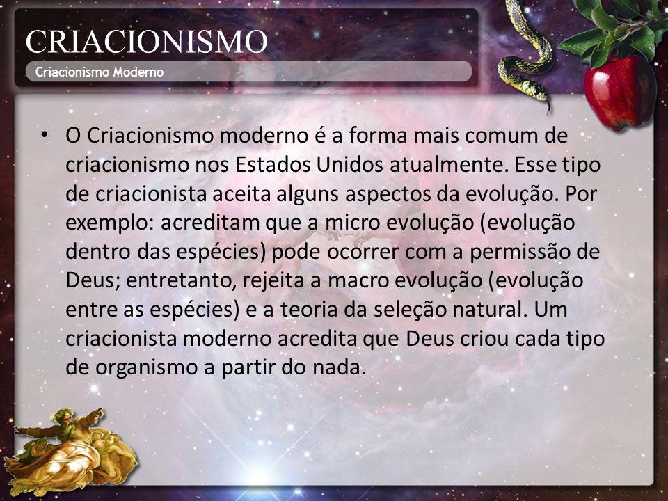 CRIACIONISMO Criacionismo Moderno.