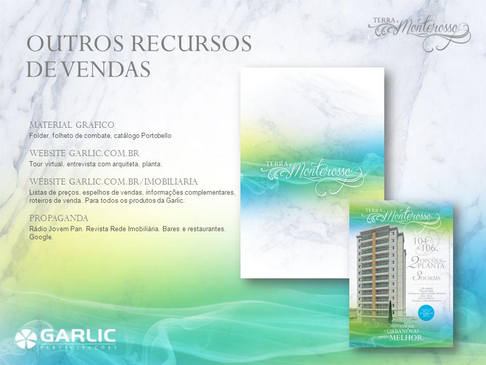 OUTROS RECURSOS DE VENDAS MATERIAL GRÁFICO WEBSITE GARLIC.COM.BR