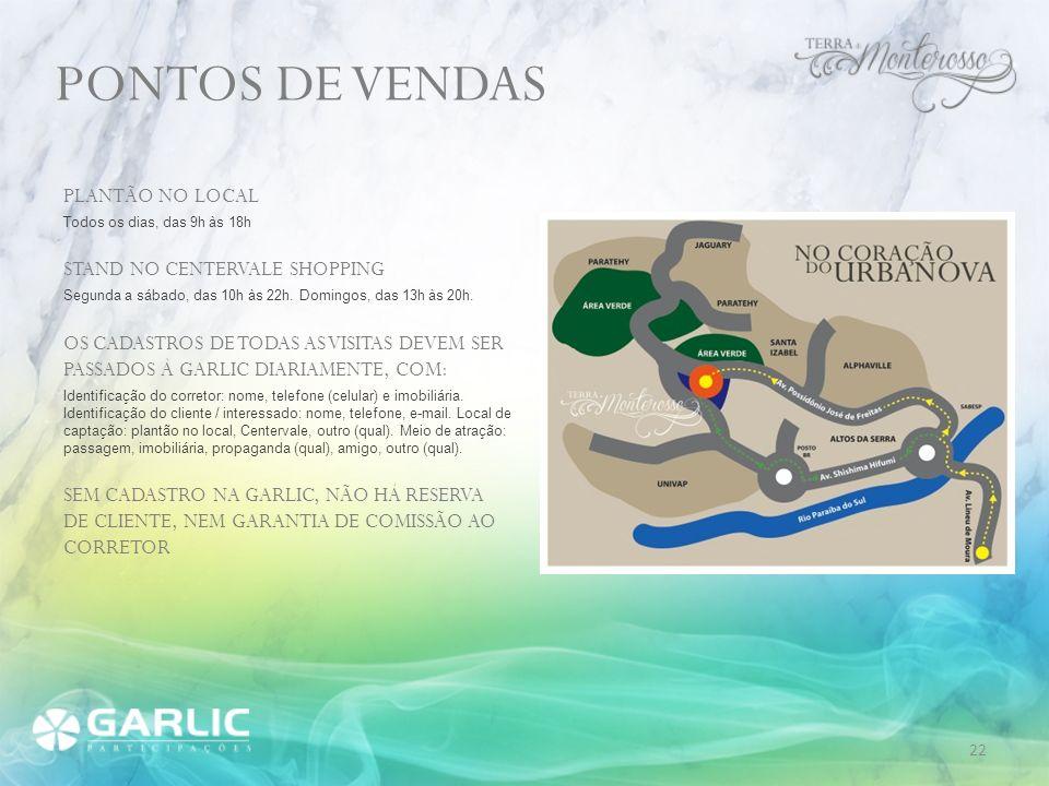 PONTOS DE VENDAS PLANTÃO NO LOCAL STAND NO CENTERVALE SHOPPING