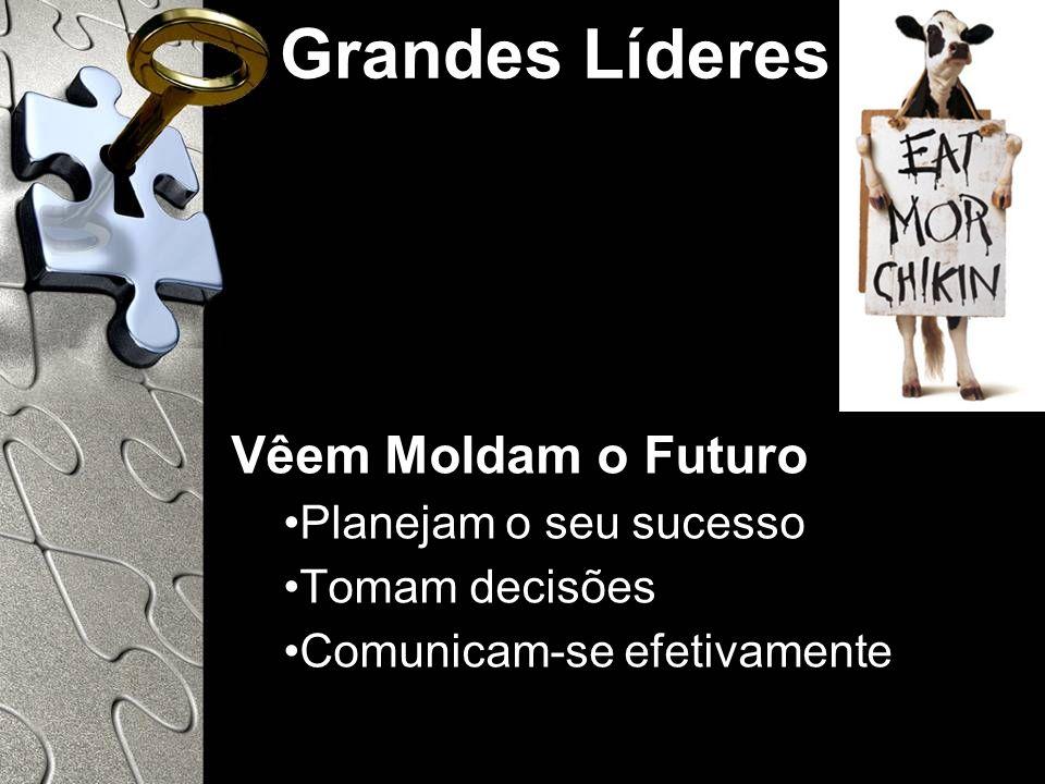 Grandes Líderes Vêem Moldam o Futuro Planejam o seu sucesso