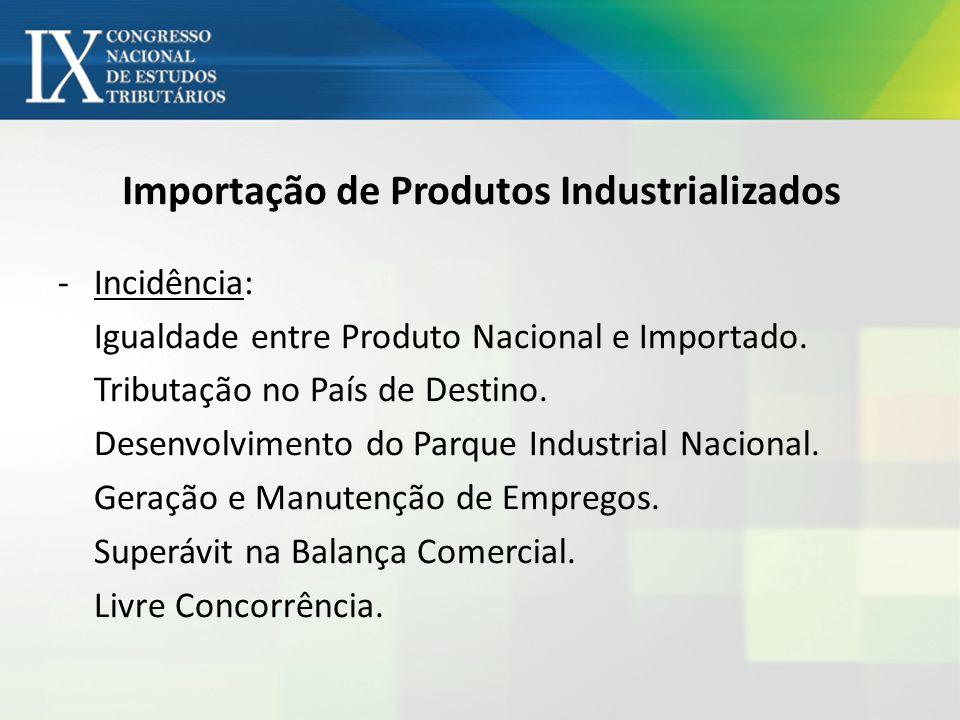 Importação de Produtos Industrializados