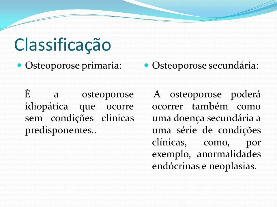 Classificação Osteoporose primaria: