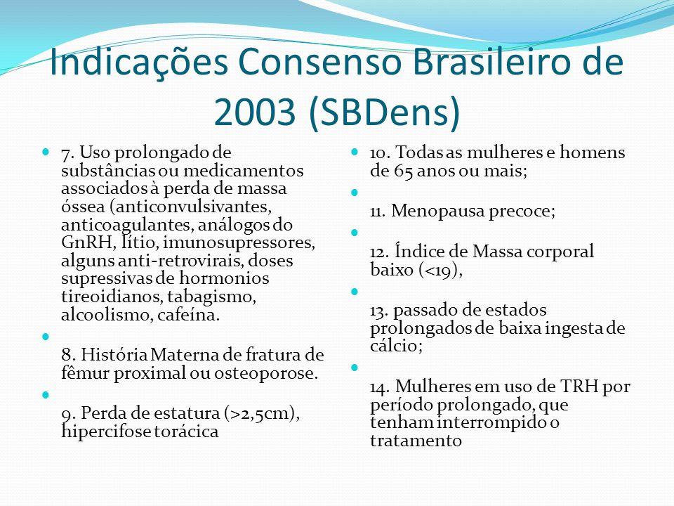 Indicações Consenso Brasileiro de 2003 (SBDens)