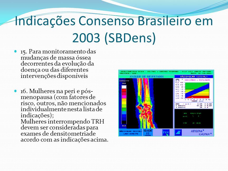 Indicações Consenso Brasileiro em 2003 (SBDens)