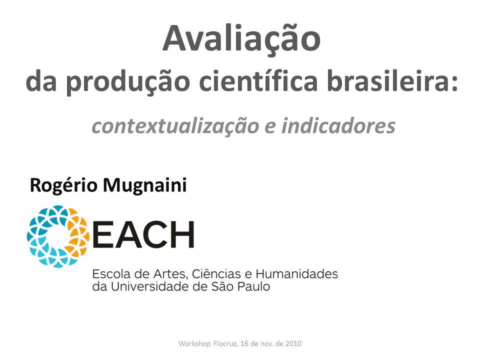 Avaliação da produção científica brasileira: