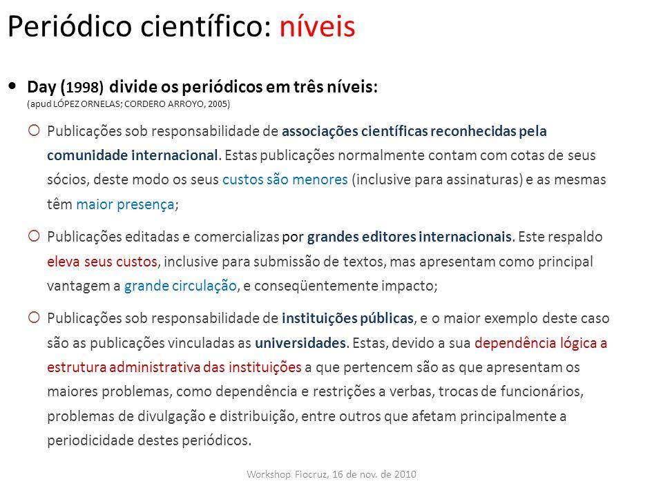 Periódico científico: níveis