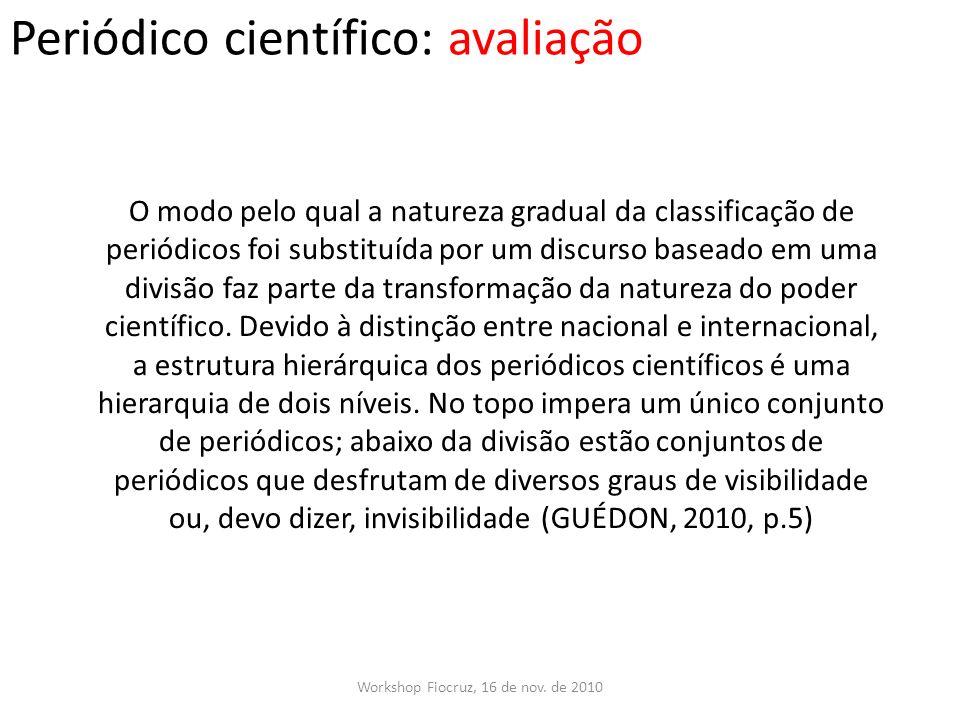 Periódico científico: avaliação