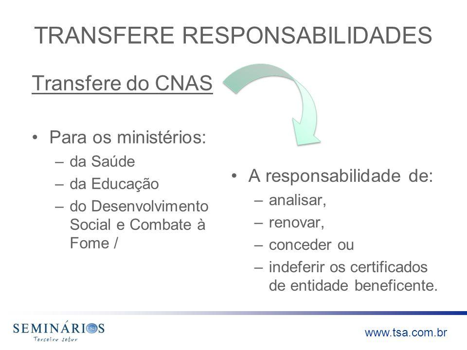 TRANSFERE RESPONSABILIDADES