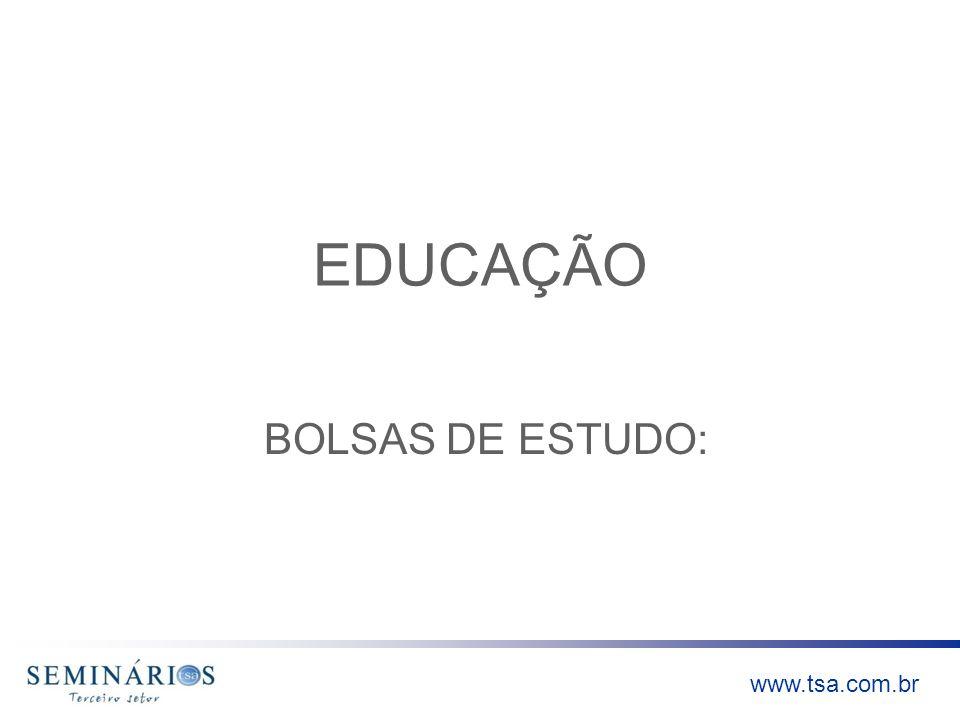 EDUCAÇÃO BOLSAS DE ESTUDO: