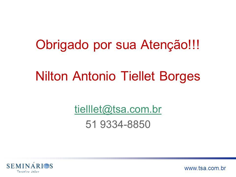 Obrigado por sua Atenção!!! Nilton Antonio Tiellet Borges