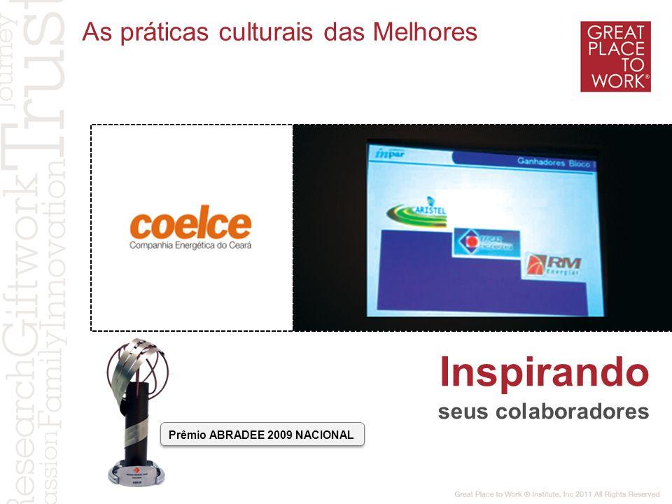 Inspirando As práticas culturais das Melhores seus colaboradores