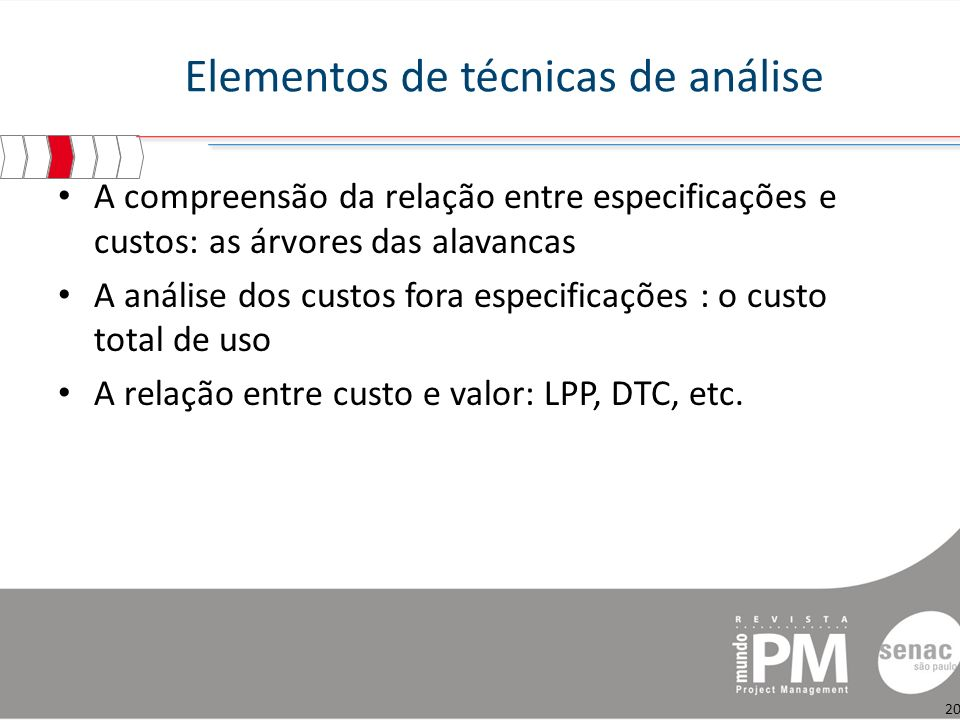 Elementos de técnicas de análise