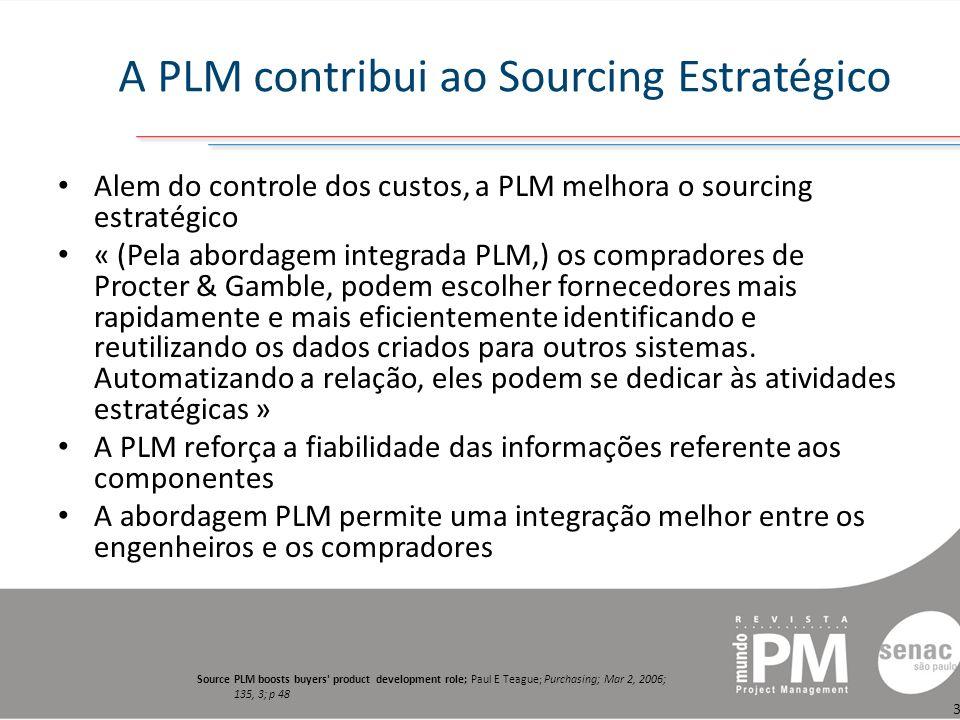 A PLM contribui ao Sourcing Estratégico