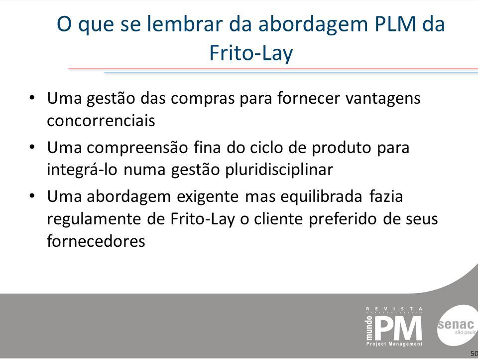 O que se lembrar da abordagem PLM da Frito-Lay