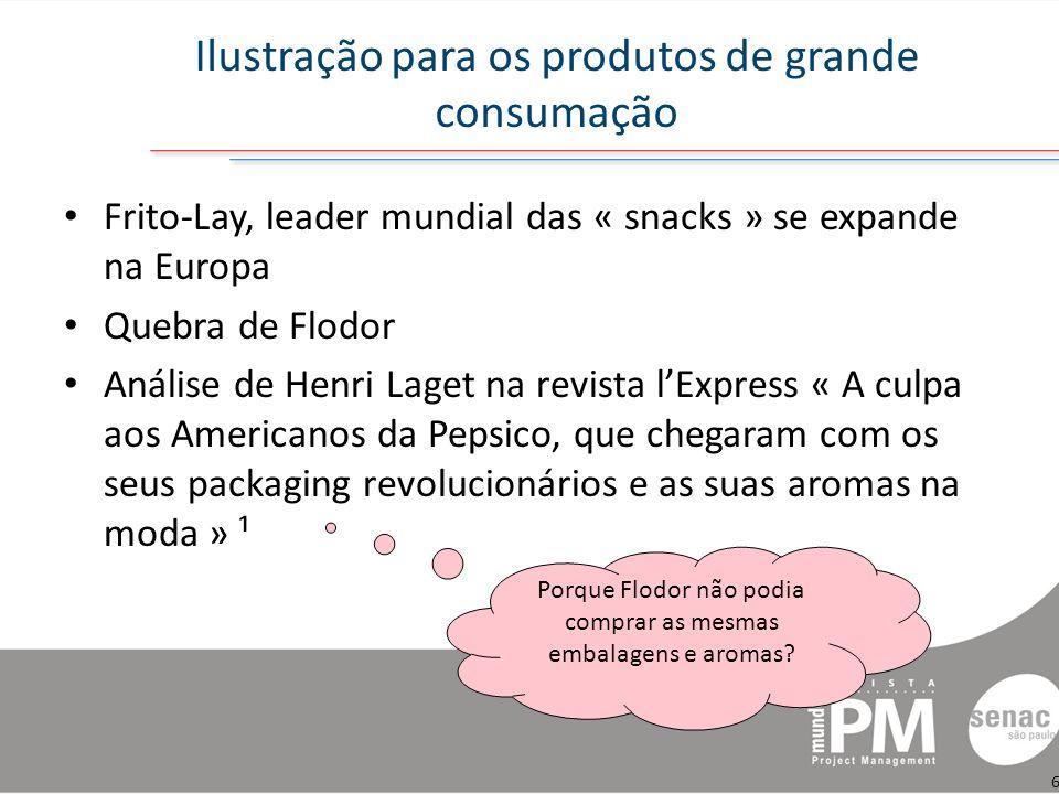 Ilustração para os produtos de grande consumação