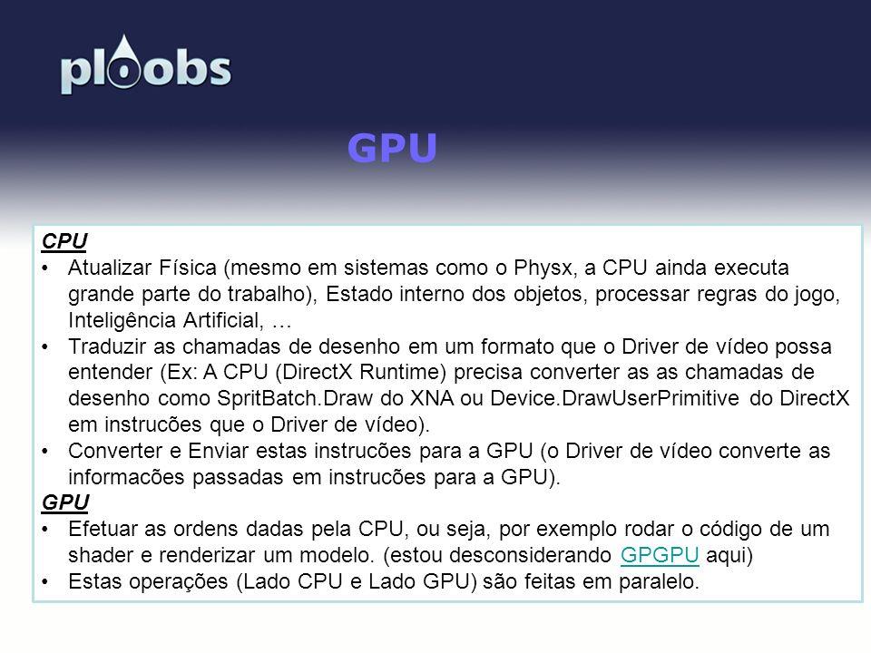 GPU CPU.