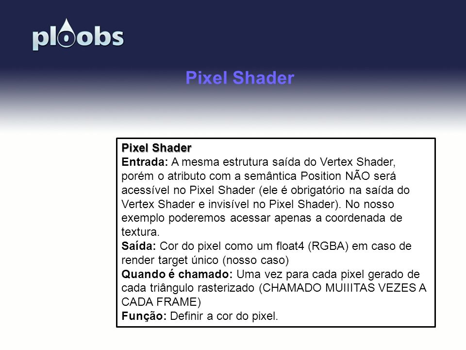 Pixel Shader Pixel Shader