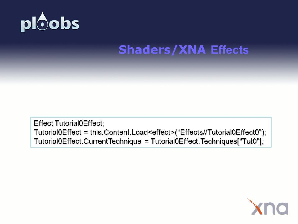 Shaders/XNA Effects Effect Tutorial0Effect;