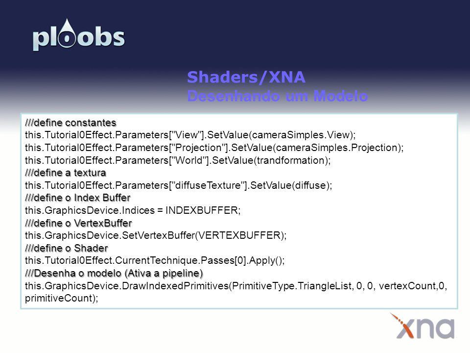 Shaders/XNA Desenhando um Modelo ///define constantes