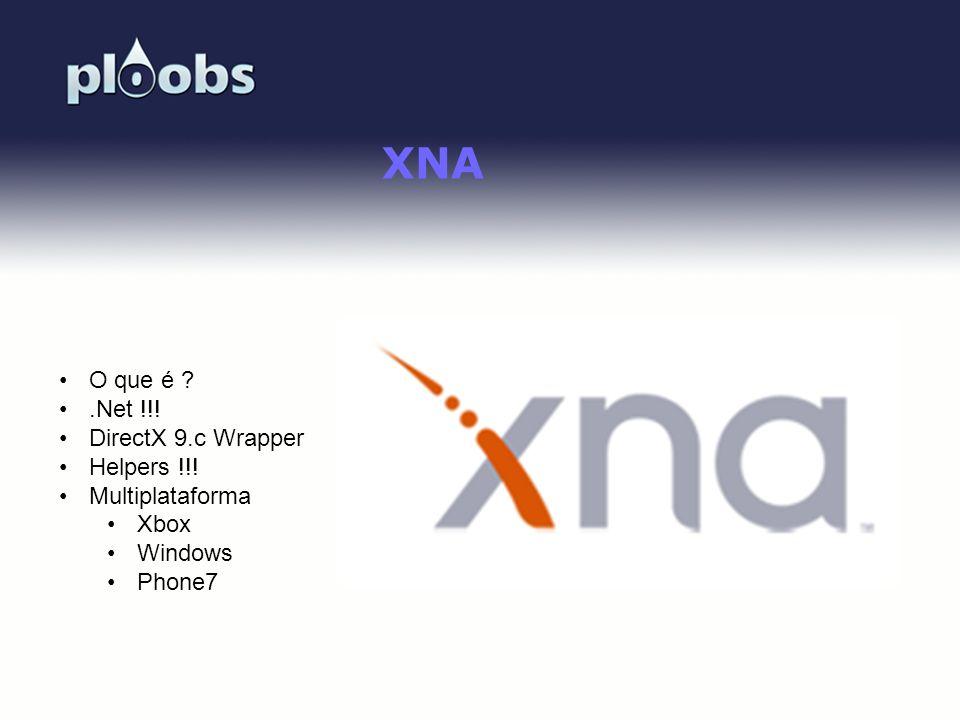 XNA O que é .Net !!! DirectX 9.c Wrapper Helpers !!! Multiplataforma