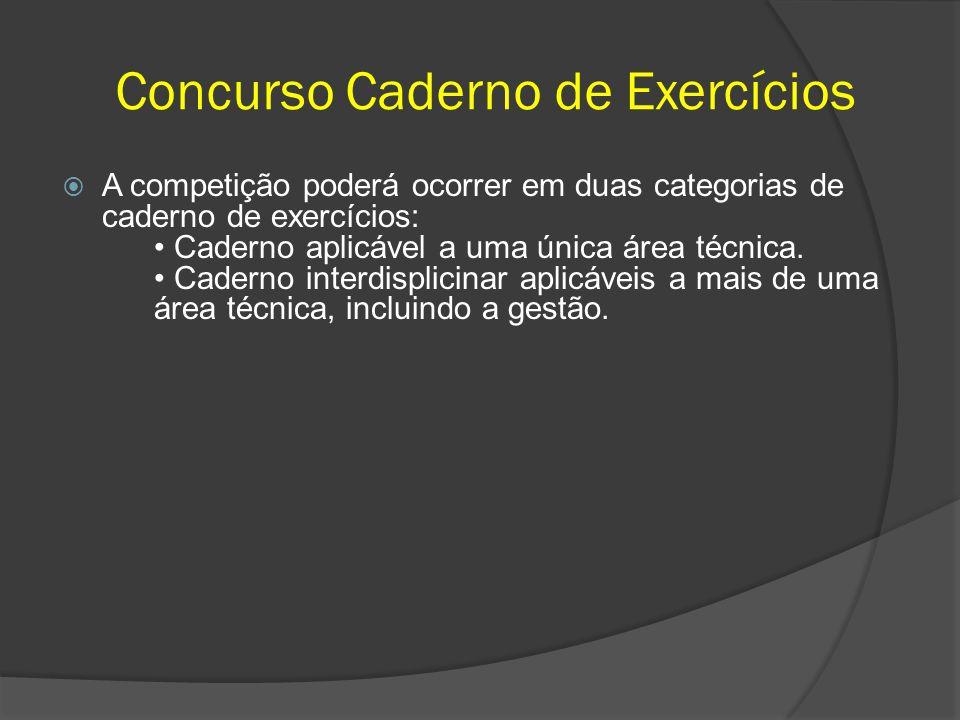 Concurso Caderno de Exercícios