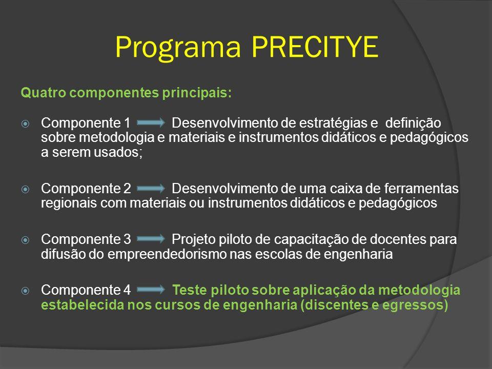 Programa PRECITYE Quatro componentes principais: