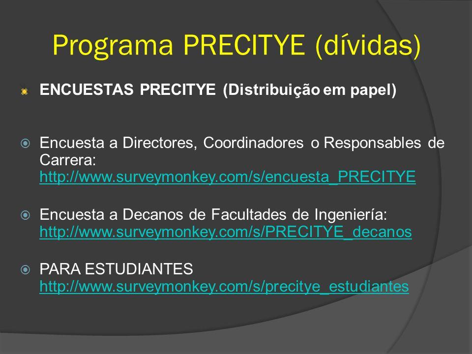 Programa PRECITYE (dívidas)